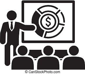 estudio de mercado, icon., empresa / negocio, concept.