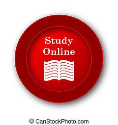 estudio, en línea, icono