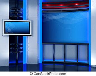 estudio, televisión