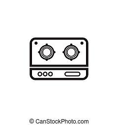estufa, logotipo