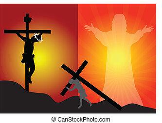 esus crucifixion and resurrectio - Crucifixion and...