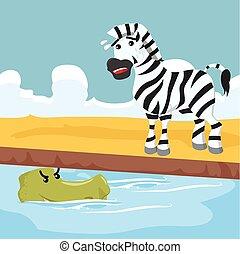 esvaziado, zebra