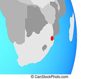 eSwatini on globe