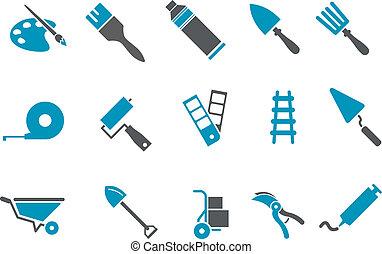 eszközök, állhatatos, ikon
