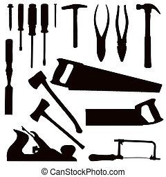 eszközök, famunka