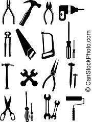 eszközök, ikonok, állhatatos