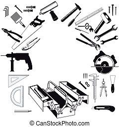 eszközök, kéz