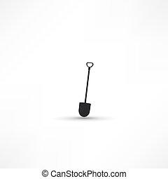 eszközök, kert, (silhouette)