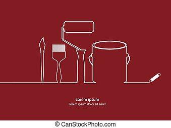 eszközök, szobafestő