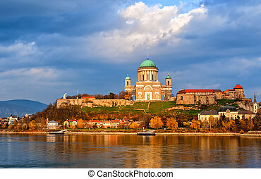 Esztergom Basilica on Danube River, Hungary - Basilica of...