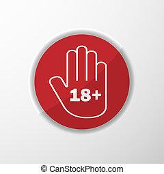 età, limit., mano, icona