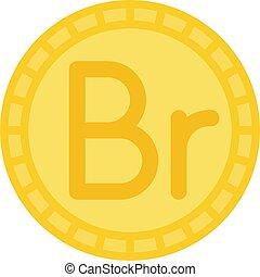 etíope, o, belarusian, rublo, moneda, birr, icono