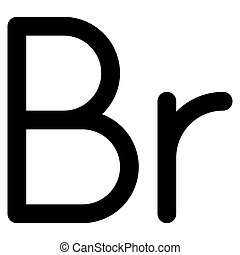 etíope, o, belarusian, rublo, símbolo, birr, icono