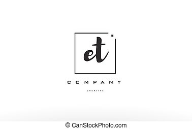 et e t hand writing letter company logo icon design