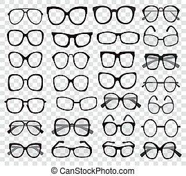 45307d2e68c Various custom glasses. Set of various custom glasses isolated ...