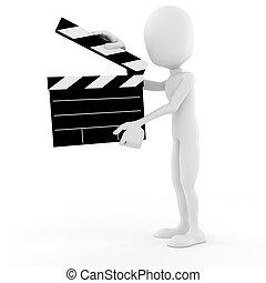 ¡!, etapa, director, acción, 3d, hombre