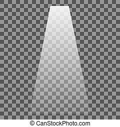 etapa, iluminado, proyector