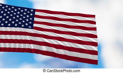 etats, drapeau, uni, amérique