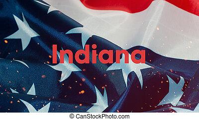 etats, drapeau, uni, gros plan, amérique