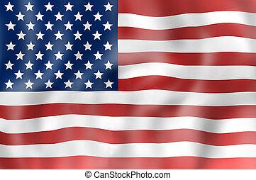 etats, drapeau, uni