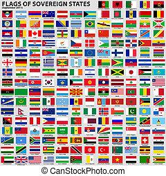 etats, drapeaux, souverain
