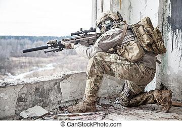 etats, garde forestier, uni, armée