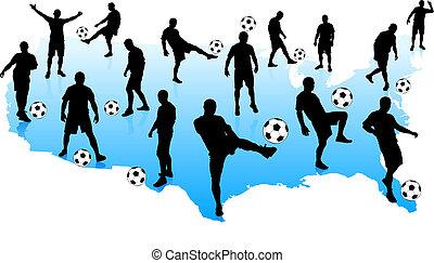 etats, joueurs, football, uni, mao
