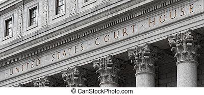 etats, maison, uni, tribunal