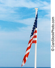 etats, national, uni, drapeau