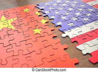 etats, puzzle, uni, porcelaine
