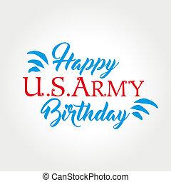 etats, uni, anniversaire, armée