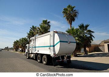 etats, uni, camion, déchets