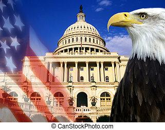 etats, uni, -, symboles, patriotique, amérique