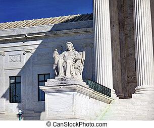 etats-unis cour cassation, statue, capitol hill, washington dc