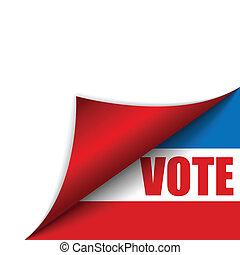 etats unis, vote, coin, amérique, page