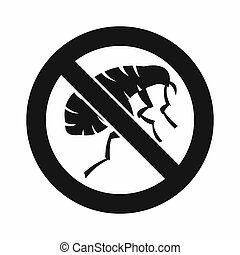 Etching insect icon, simple style