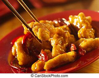 eten, chinees voedsel, -, algemeen, tso's, eetstokjes., ...