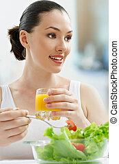 eten, gezond voedsel
