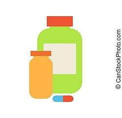 etenswaar containers, toevoegsel, illustratie, vector