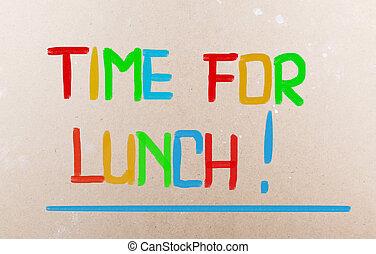 etentje, concept, tijd