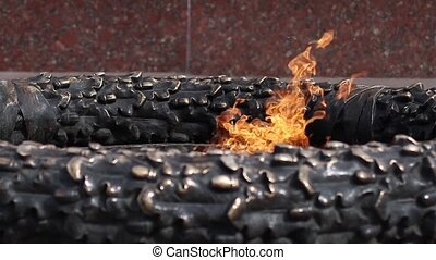 Eternal burning fire memory memorial - Eternal flame in ...