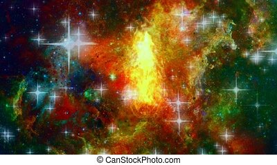 Eternal fire in vivid Universe. Stars and nebulae