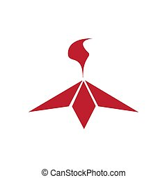 Eternal fire red icon on white background. Vector illustration.