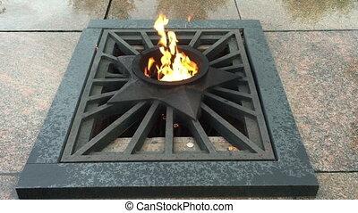 Eternal Flame at the Memorial