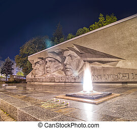Eternal glory monument in Stavropol - Soviet World War II...