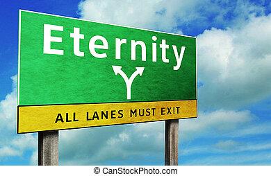 eternidad, muestra del camino