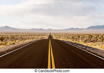 Eternity - Endless road through Death Valley national park...