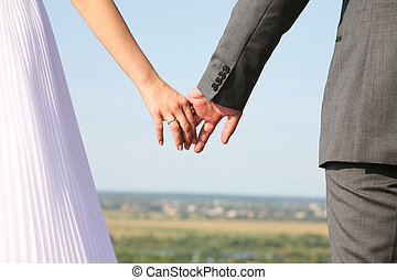Eternity - Image of bride and groom holding each other?s...