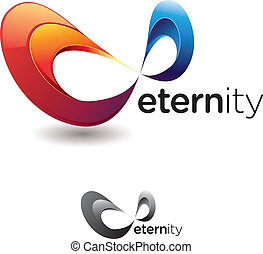 Eternity Symbol - Stylized eternity or infinity symbol with...