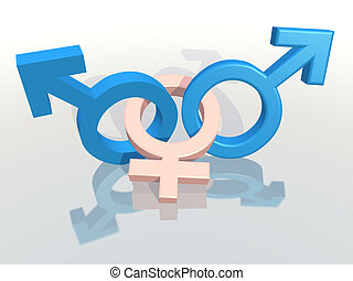 eterrrnal triangle - two male and a female symbol